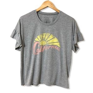 Grayson Threads California Ruffle Sleeve Tee—M